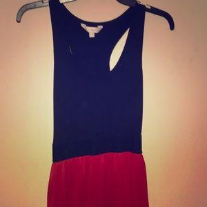 Red/Black Stretch Maxi Dress